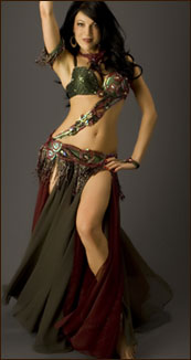 stomach wrap belly dance turkish costume